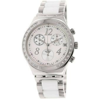 Para Reloj Swatch Dama Acero Inoxidable Bicolor Ycs511gc En wOPkXiuTZ