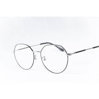 5ca9a8956e Compra Armazón Para Lentes Ópticos Semi Hexagonal Plateado - Negro ...