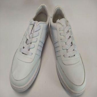 83c52b1120c Compra Zapato Tenis Zapatillas Blanco Cuero Colegio Colegial online ...