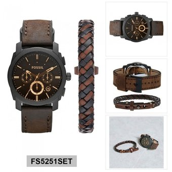 venta más caliente rebajas(mk) nueva precios más bajos Reloj Fossil - Set de pulsera y reloj - FS5251SET