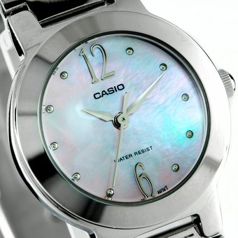 d2c47f2c244e Compra Reloj Casio LTP 1191A 2A-Plateado con Azul Para Mujer online ...