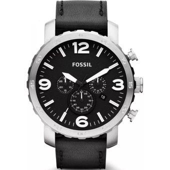 58ca4b0951c3 Agotado Reloj Fossil Nate Cronógrafo JR1436 Cuero Analógico Hombre- Negro