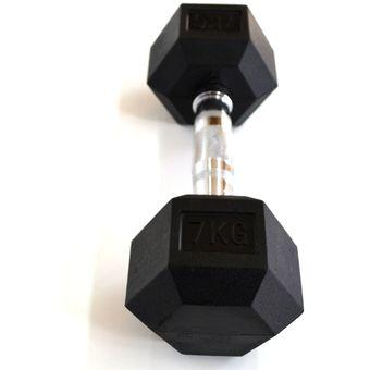 Mancuerna Hexagonal Engomada 7kg GMP Equipamientos