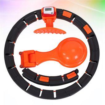 Rpanle Hu La Ring Fitness 6 Secciones Desmontables Ajustable Aro de Fitness para Uso para Bajar de Peso y Masajes Fitness Profesional para Adultos Hu La Ring