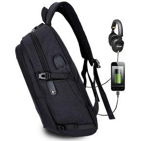 343b0cd25573e Multi - Funcion De Gran Capacidad Travel Casual Mochila Laptop Computer Bag  Con Externo USB Interfaz