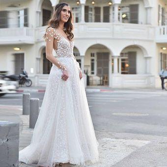 Ver A Través Del Vestido De Novia Vestido De Princesa De Gasa Estrella
