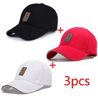 5fe916e62c3c Gorras De Béisbol Para Mujer/Hombre,3Pcs/Negro,Rojo,Blanco
