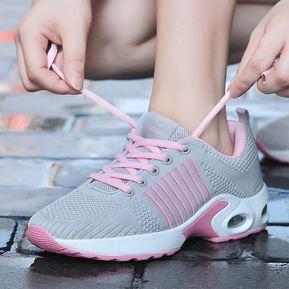 01ea9b0a49 Moda Air Mesh Casual Zapatillas Mujer Zapatillas Planas Para Caminar Tenis
