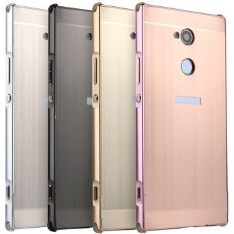 ce2f1addd52 Compra Funda De Cepillado Metálico Para Sony Xperia XA2 Ultra-Oro ...