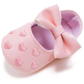 a87d1dd6dd1 Zapatos De Bebé Con Bordado De Corazón Zapatos Para Andar - Rosa