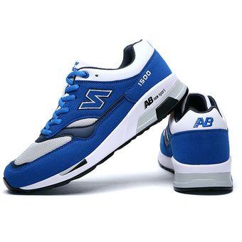 mejor selección 0e58f 8d30e Zapatos Deportivos Con Malla Respirable Tenis Correr Para Hombre -Azul