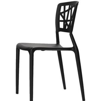 Juego de 4 sillas de comedor apilables. Furniturer Nestle BK