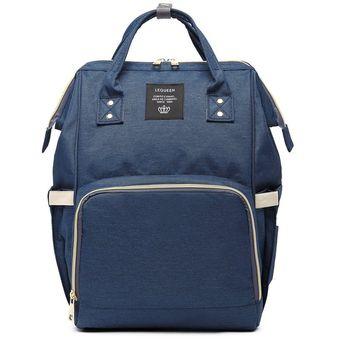 mejor autentico venta limitada encanto de costo Bolso Multifuncional estilo Pañalera para Mujer-Azul