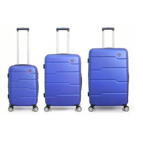 Maletas De Viaje Duras Con 8 Ruedas Juego De 3 Azul - RDJA 512d3ab783d