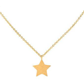 cbf9797301cf Agotado Collar Acero Inoxidable Harmonie Accesorios Dije De Estrella Para  Mujer - Dorado