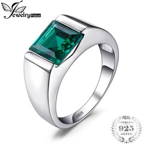 298216fb6c72 Anillo Jewelrypalace Creado Ruso Nano Verde Esmeralda 925 Plata Esterlina