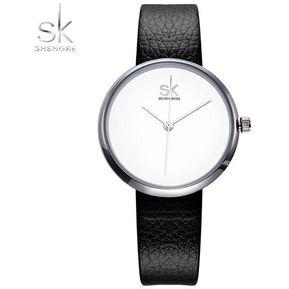 29bf5b53bf4e Relojes Mujer Moda De Cuarzo De Cuero De Lujo Casual-Blanco-Blanco
