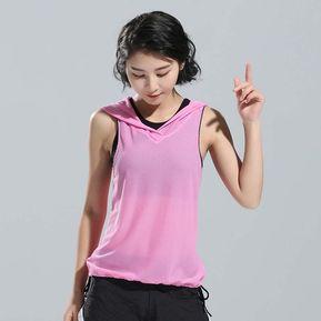 Yoga Tops Mujeres Chaleco Sin Mangas Deporte Aptitud Gimnasio Correr Tee -  Rosado 99d916570cf3