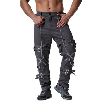 Ropa Europea Para Hombre Cremalleras Pantalones De Carga A La Moda Pantalones Tacticos Con Personalidad Pantalones Casuales Holgados De Talle Alto Pantalones De Cadena De Talla Grande Wan Armygreen Linio Peru