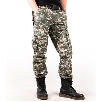 d0f575dff5 Pantalones Hombre Camuflaje Deportivo Militares Pantalon Cargo Bolsillos  Múltiples Algodon - Selva