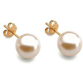 41dfe33b3aa4 Aros Vanité Pearls Oro Laminado - Blanco