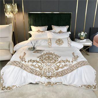 Hermoso Cochecito edredón y almohada Conjunto blanco con nombre Bordada En
