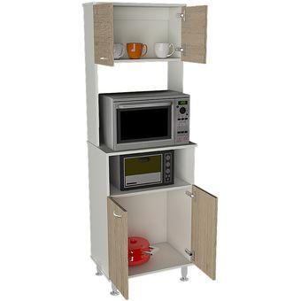Compra mueble de cocina tuhome kitchen 54 fenix blanco - Mueble rinconera cocina ...