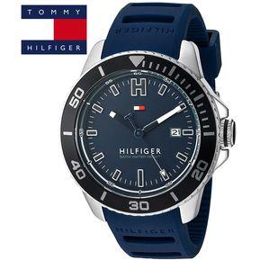 ecabcec2810c Reloj Tommy Hilfiger 1791263 Wade Acero Inoxidable Correa De Silicona - Azul
