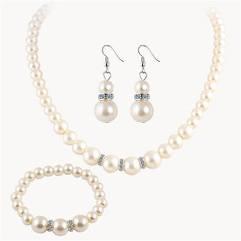 c3bc86712ad7 Compra Set Collar Aretes Pulsera Harmonie Accesorios Perlas Blanco ...