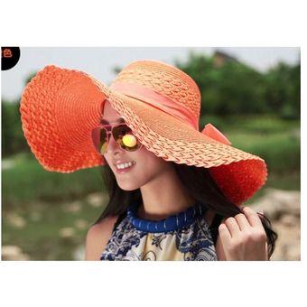 2f7d2a4f9ee00 Sombrero De Playa Para Mujer Palmera s Bay Protección Solar Moda Dama  Gorra-Naranja