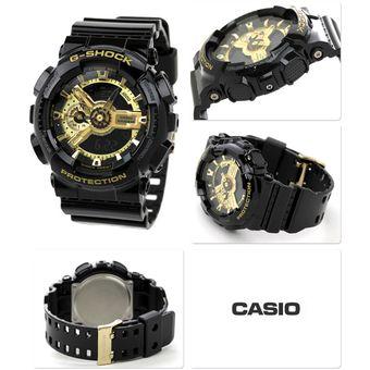 f45838366c95 Compra Reloj Casio Para Caballero GA 110GB 1ACR Negro Tablero Dorado ...