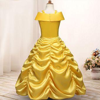 Hermoso Vestidos De Princesas Para Niñas Amarillo