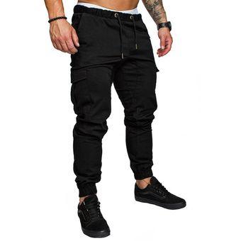 Pantalones A La Moda De Un Solo Color Para Hombre Pantalones Transpirables Para Adolescentes Pantalones De Chandal De Un Solo Bolsillo Wan Black Linio Peru Ge582sp0j83ublpe