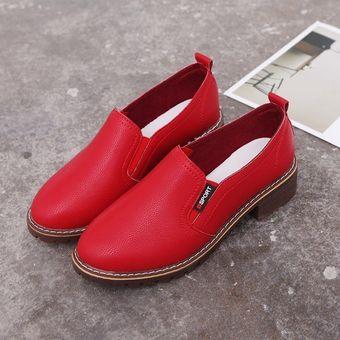 60d28d24dc Compra zapatos planos PU con cordones y punta redonda Zapatos Oxford ...