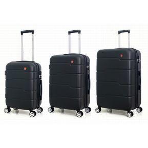 Maletas De Viaje Con 4 Ruedas Juego De 3 Negro - RDJN 703ee3536eb6a