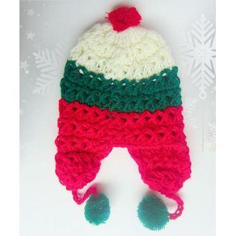 Gorros Navidad Mujer Hombre Niña Niño Lana Invierno Frio Moda Emma Rose  Navidad Rojo Verde Blanco cfbdd3ddd1e