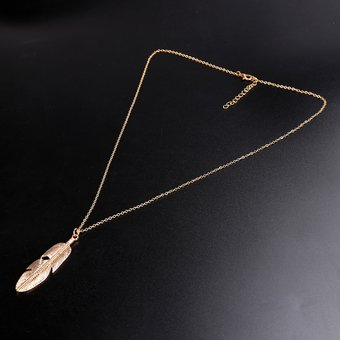 037570c9b72c Compra Plata Pluma Del Collar De Estilo Borla-Oro online