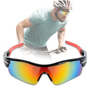 c264e591e8 Gafas Deportivas Ciclismo 5 Lentes Intercambiables + Accesorios + Estuche