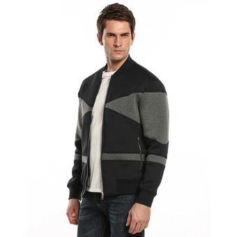 Chaqueta Cazadora Ropa jersey suéter Casual manga larga remiendo uniforme  del béisbol Yucheer para hombre - 829a8f31635