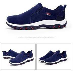 4c5e518a29d Zapatillas de deporte al aire libre de cuero para hombres-Azul