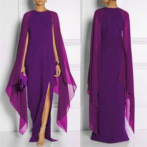 bc09386f0f Vestido largo de Fiesta Fashion-Cool para Mujer-purpura