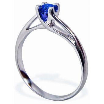 537fc465a40d Anillo De Compromiso Solitario Diamond Desing Zafiro Natural 40 Puntos Con  Montadura De Oro Blanco De