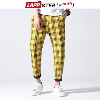 Pantalones De Cuadros Juveniles Para Hombre Ropa De Calle Harajuku Moda Coreana Pantalones De Otono Pantalones De Chandal Para Hombre Pantalones Harem De 5 Colores W4 Linio Peru Ge582fa1izbl5lpe