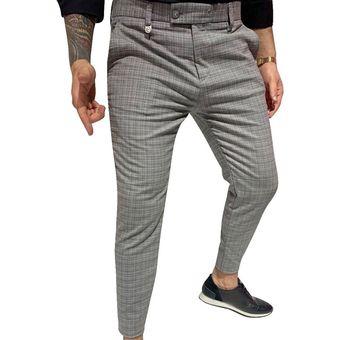 Pantalones Casuales De Tela Escocesa Para Hombre Pantalones De Vestir Formales Para Fiestas Pa Sai Linio Colombia Ge063fa0fl8j3lco