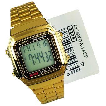 70ea0b965a01 Compra Reloj Casio A178WGA-1A Clásico Retro Unisex - Dorado online ...