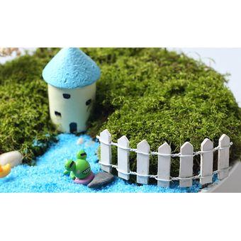 magideal madera blanca adornos musgo paisaje accesorios decoracin del jardn de mini valla