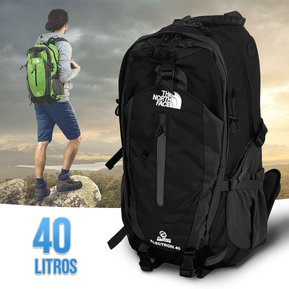 7160d98d4 Morral 40 Litros Maletin The North Face Mochila Impermeable Camping Negro  RF 217