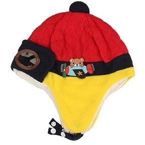 Lindo Bebé De Invierno Para Niños Niñas Niños Caliente Cap Piloto Aviador  Ganchillo Earflap Sombreros ( 18b6a6a3c8d