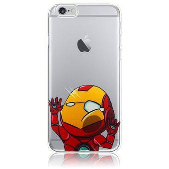 54776dc2500 Agotado Funda de TPU Silicona la Iron Man Golpeó el Cristal para Apple iPhone  6 Plus /