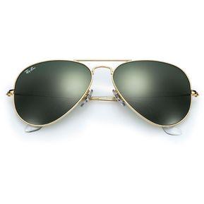 336aeddf742ec Gafas De Sol Ray Ban Aviator 3025 L0205 Dorado   Verde Talla 58mm M Lente  Cristal